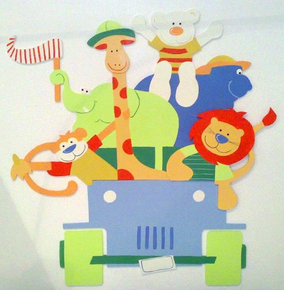 Jeep desenho com bichinhos