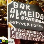Placa engraçada de boteco em algum lugar do Brasil