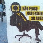 Graffiti 'cruel' sobre a verdadeira importância da TV Globo