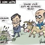 Charge: quando a vaca da política ruma no caminho do brejo