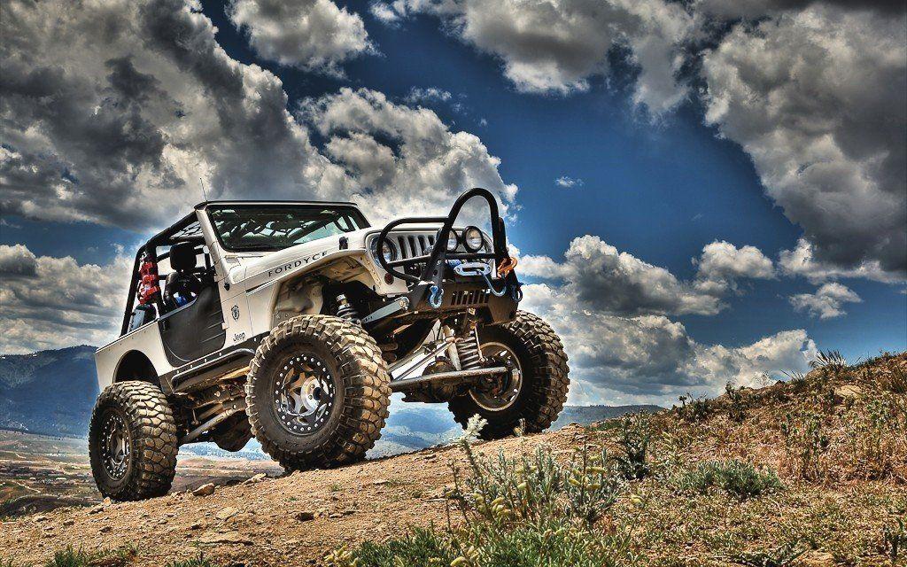 Jeep branco - wallpaper