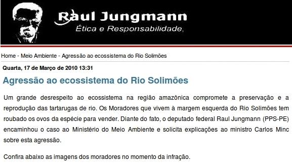 Raul Jungmann - falsa denúncia