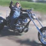 Caveira na pintura de triciclo preto Harley-Davidson