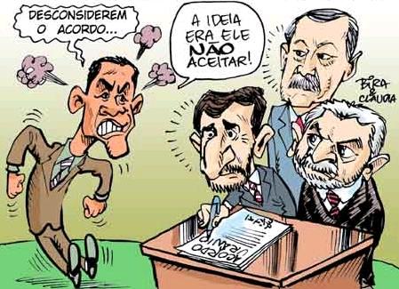 Charge do Bira - acordo nuclear Brasil-Irã