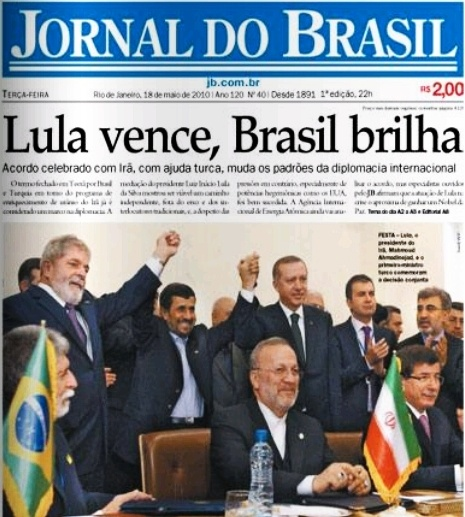 Manchete do JB - Lula vence, Brasil brilha