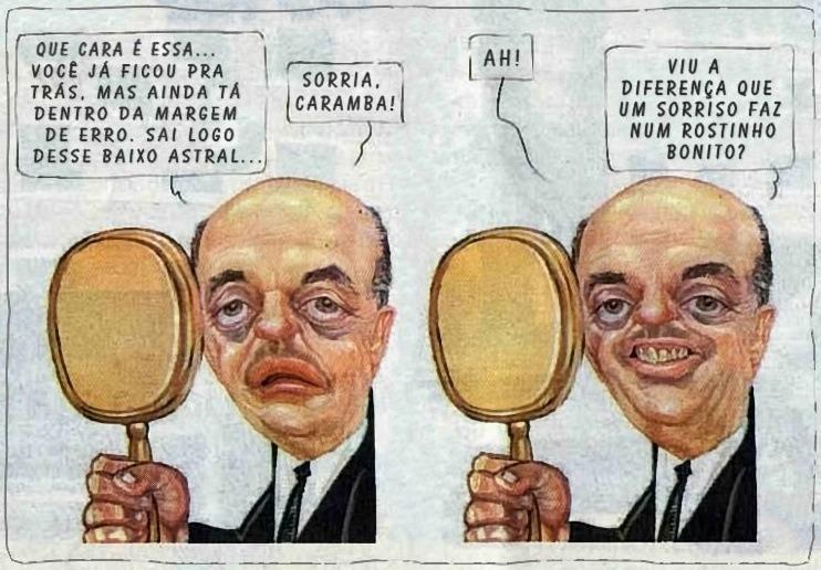 Sorriso - arma do Serra para superar Dilma nas pesquisas