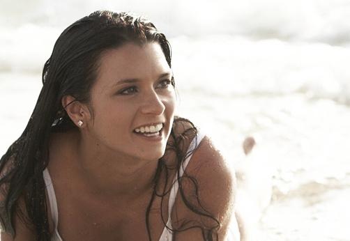 Danica Patrick, modelo - a Bela na praia