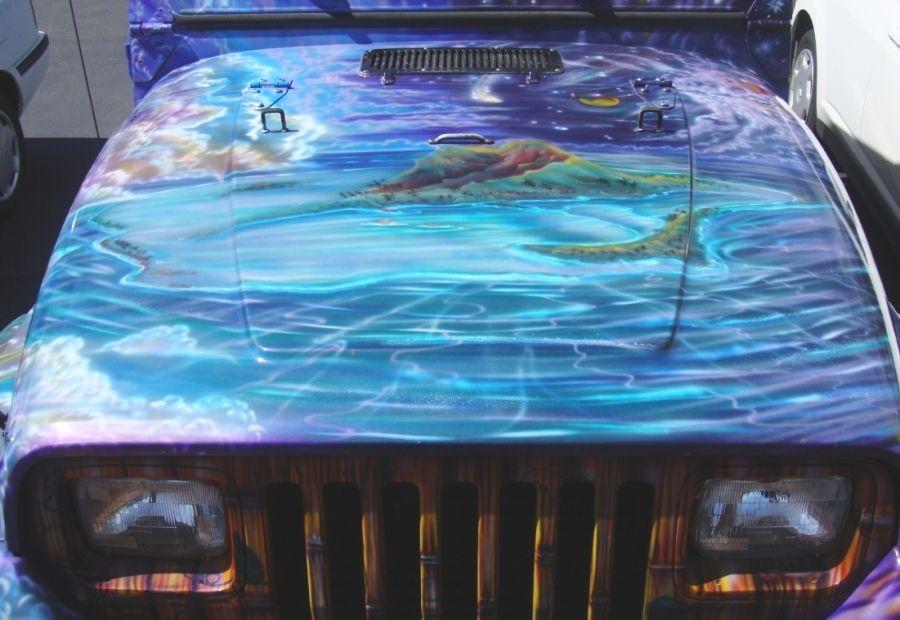 Jeep - pintura airbrush ecologia