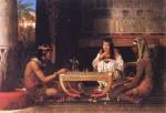 Jogadores de xadrez no Egito antigo