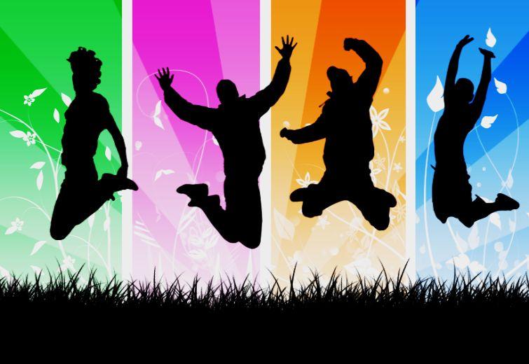 Povo pula de alegria e felicidade