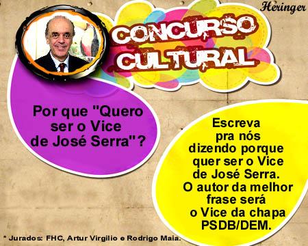 Concurso público para candidato a vice do Serra