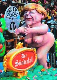 Angela Merkel - boneco da chanceler alemã