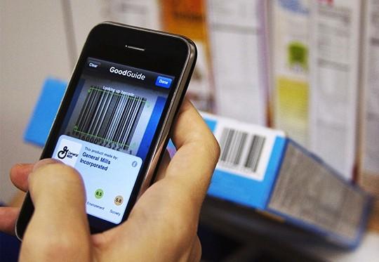 Aplicativo ecológico Good Guide para celulares e iPhones