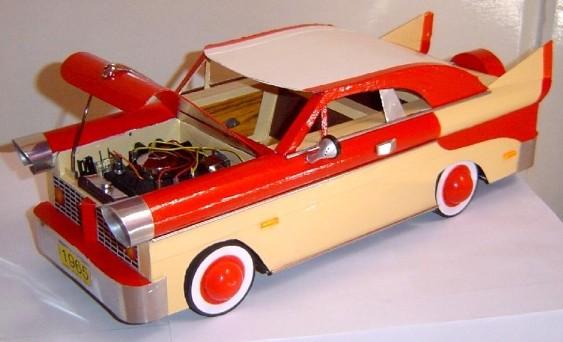 Artesanato - carrinho de papelão com motor