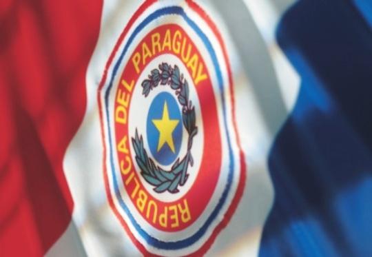 Bandeira do Paraguai - Azul, Vermelha e Branca