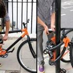 """A incrível bicicleta """"cadeado"""" com quadro dobrável"""