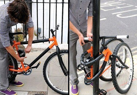 Bicicleta dobrável cadeado
