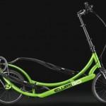 Bicicleta elíptica com rodas contra stress das academias