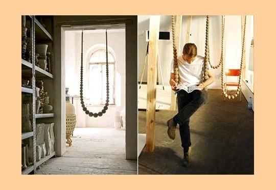 Decoração de interiores - balanço em forma de colar