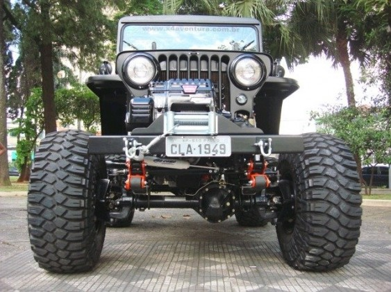 Jeep Willys CJ-3A pintura grafite