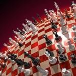 Bonito wallpaper em 3D sobre o jogo de xadrez