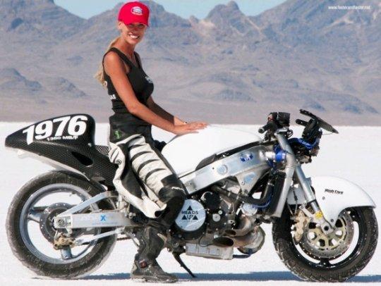 Leslie Porterfield, fera - a motociclista mais veloz do mundo