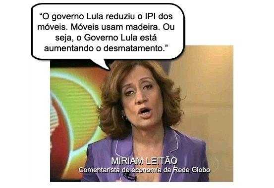 Miriam Leitão - especialista da Globo