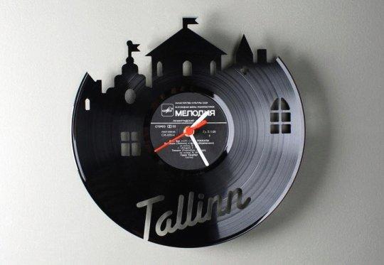 Rel gios de parede com discos de vinil reciclados - Relojes de pared originales decoracion ...