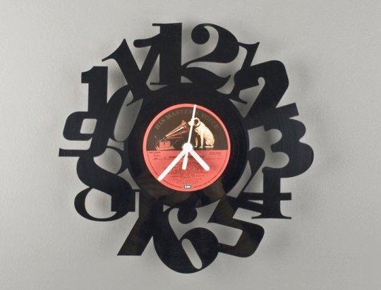 Relógio de parede - long play de vinil reciclado