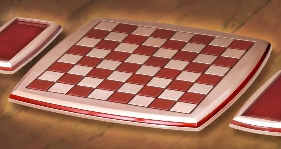 Tabuleiro de Xadrez - madeira metalizada