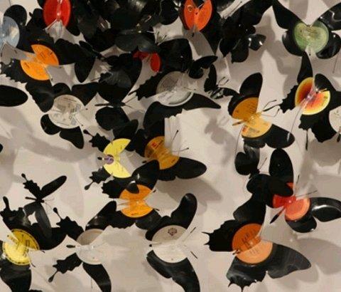 Discos de vinil reciclados na decoração de ambientes
