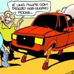 Humor sertanejo: picape com tração nas quatro