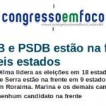 Base da Dilma lidera corrida eleitoral em 18 estados