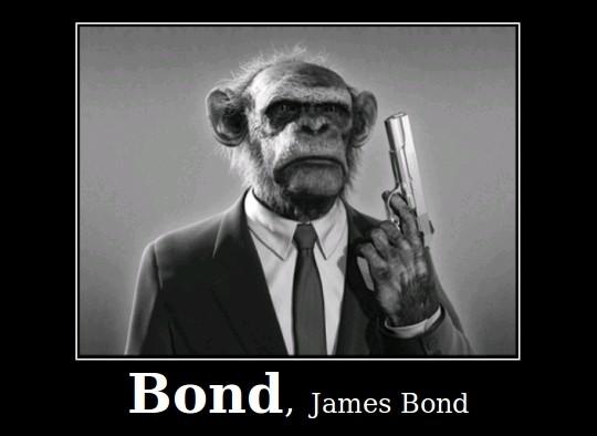 Agente 007 James Bond Espião Macaco