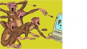 Não alimente o bando de macacos trolls