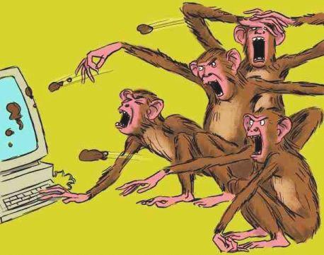 "Bando de macacos ""trolls"" ataca blogs"