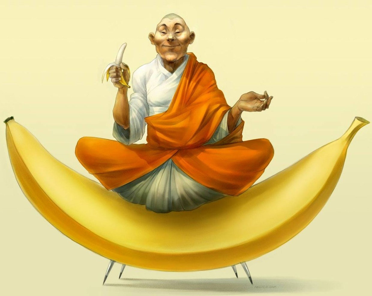 Buda Banana Wallpaper