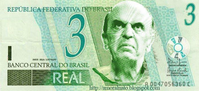 José Serra estampa nota falsa de 3 reais