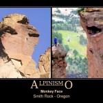 Alpinismo: a escalada da incrível pedra com cara de macaco