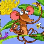 Tema de decoração infantil: macaquinhos comendobananas