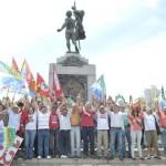 As imagens do Abraço na Contorno – com Dilma em BH-MG