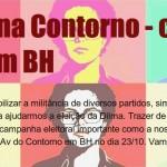Belo Horizonte, capital de Minas Gerais, dá abraço em Dilma