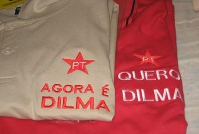 Camisetas do PT