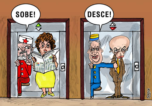 Charge política Dilma x Serra