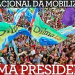 Quarta – Dia Nacional da Mobilização – Dilma Presidente