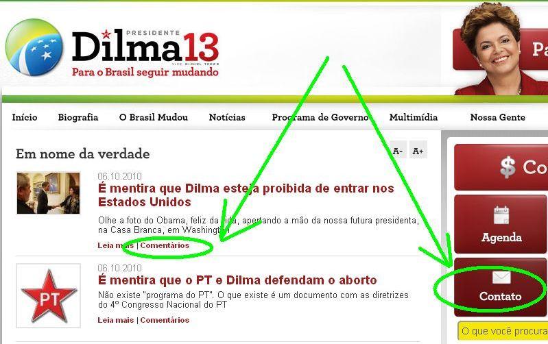 Eleições 2010: Central anti-boatos Dilma