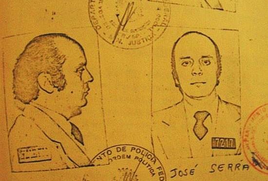Ficha de José Serra terrorista