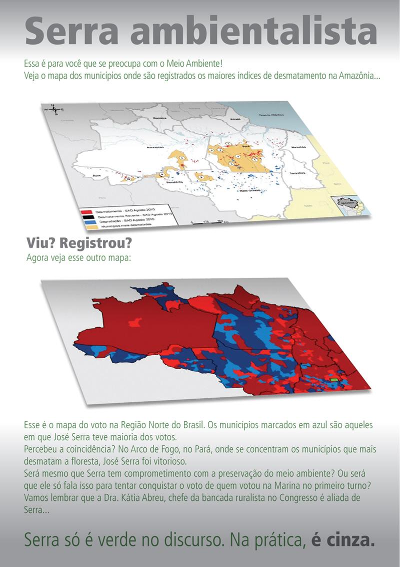 José Serra - cologia e desmatamento da Amazônia