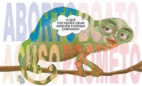 Mil caras - mimetismo político-camaleônico