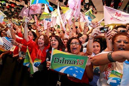 Mulheres com Dilma
